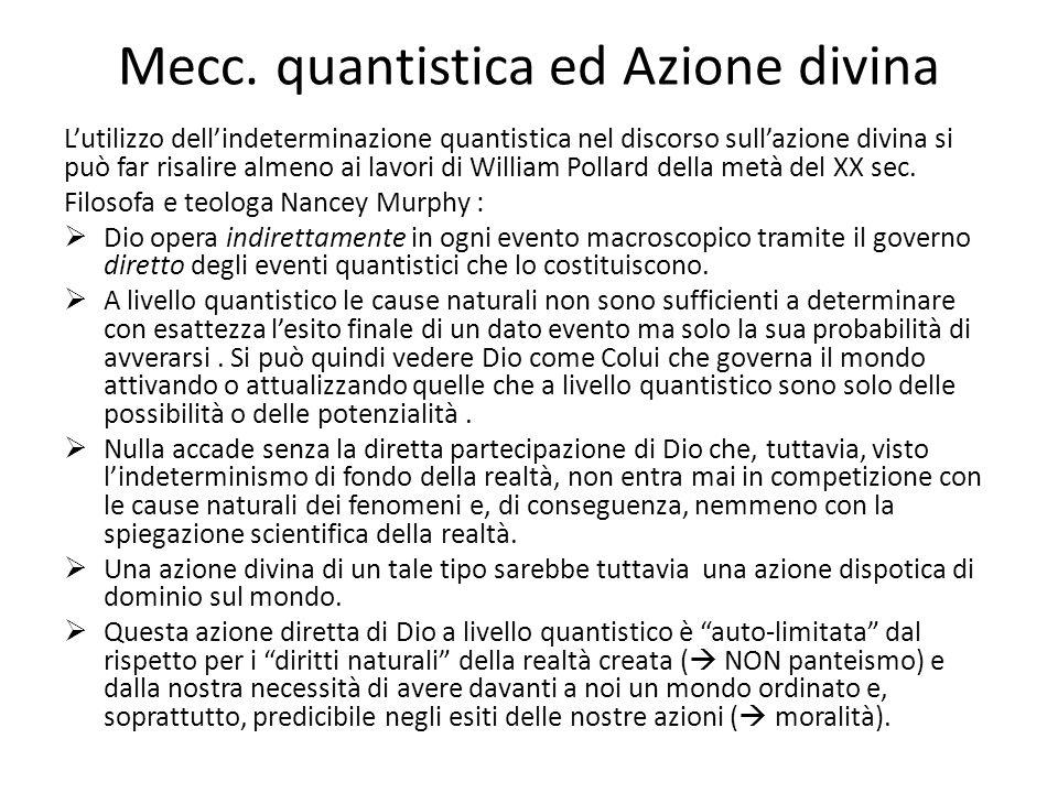 Mecc. quantistica ed Azione divina