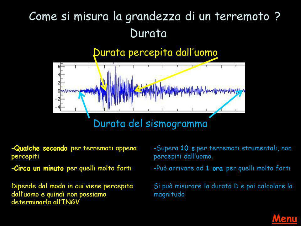 Come si misura la grandezza di un terremoto Durata
