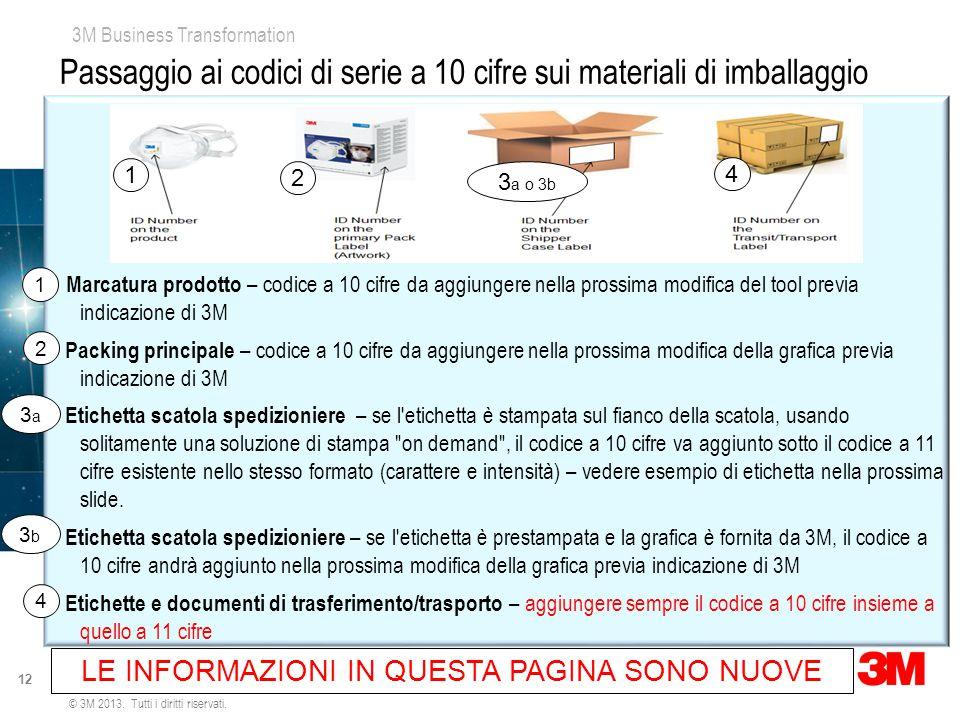 Passaggio ai codici di serie a 10 cifre sui materiali di imballaggio