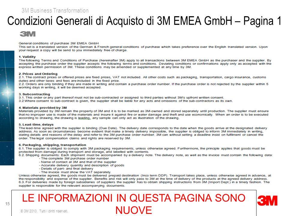 Condizioni Generali di Acquisto di 3M EMEA GmbH – Pagina 1