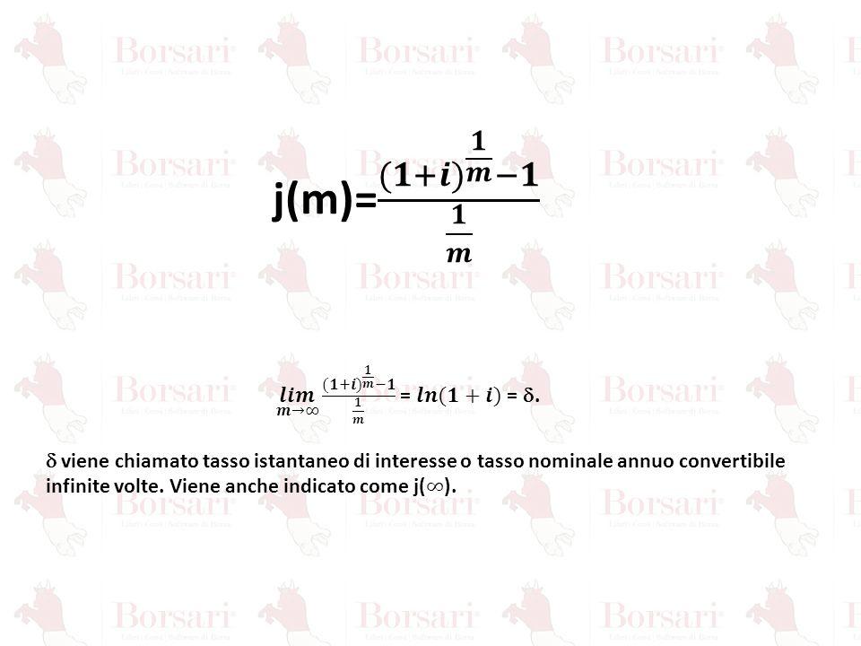 𝒍𝒊𝒎 𝒎→∞ (𝟏+𝒊) 𝟏 𝒎 −𝟏 𝟏 𝒎 = 𝒍𝒏 (𝟏+𝒊) = d.