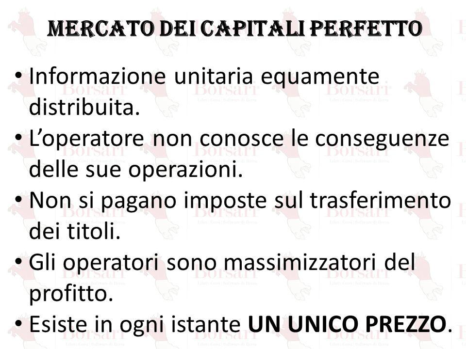 MERCATO DEI CAPITALI PERFETTO