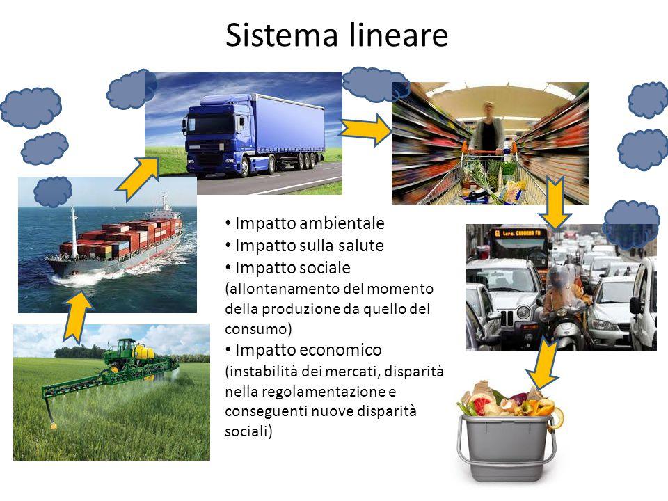 Sistema lineare Impatto ambientale Impatto sulla salute