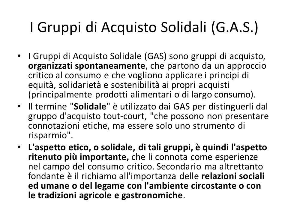 I Gruppi di Acquisto Solidali (G.A.S.)