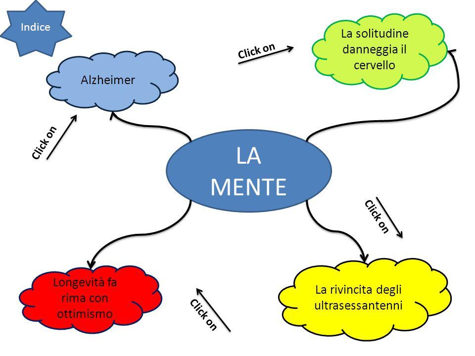 LA MENTE La solitudine danneggia il cervello Alzheimer