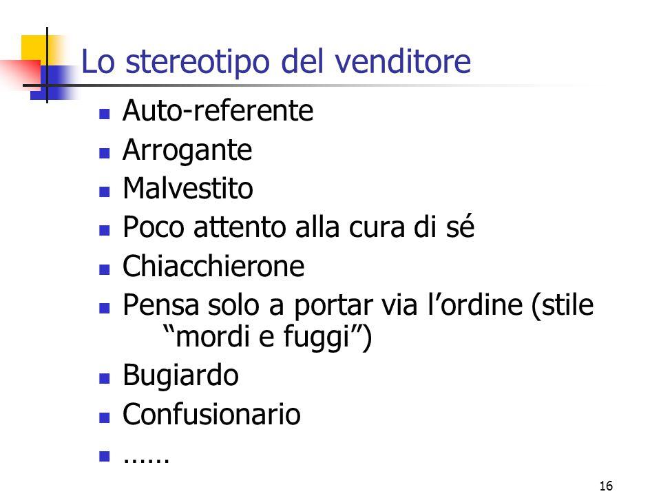 Lo stereotipo del venditore