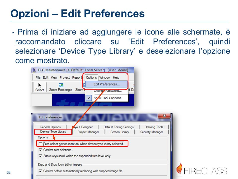 Opzioni – Edit Preferences