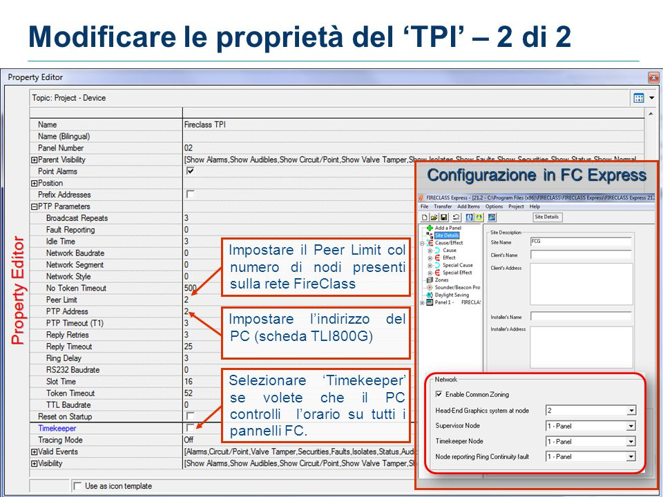 Modificare le proprietà del 'TPI' – 2 di 2