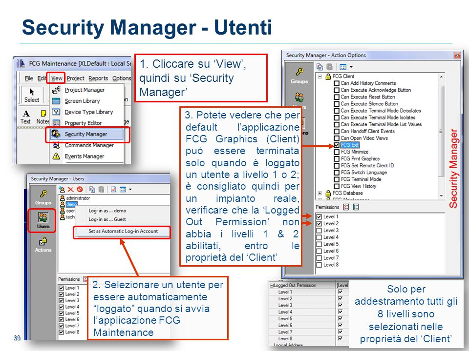 Security Manager - Utenti