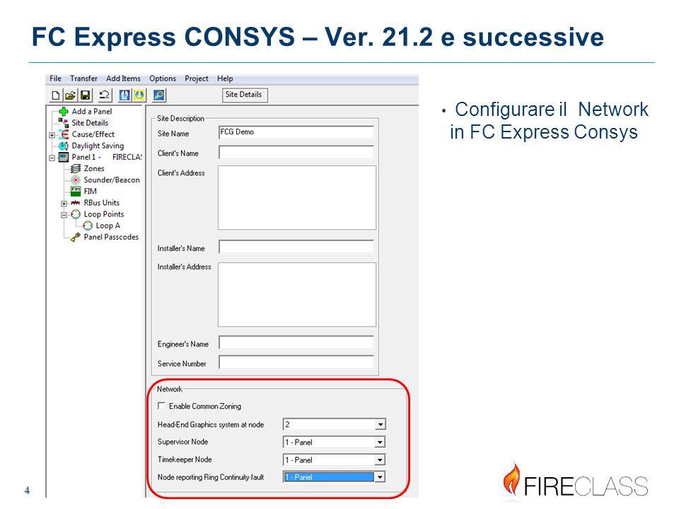 FC Express CONSYS – Ver. 21.2 e successive