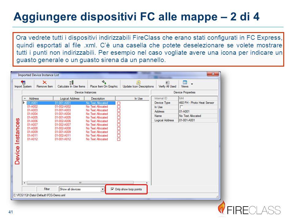 Aggiungere dispositivi FC alle mappe – 2 di 4