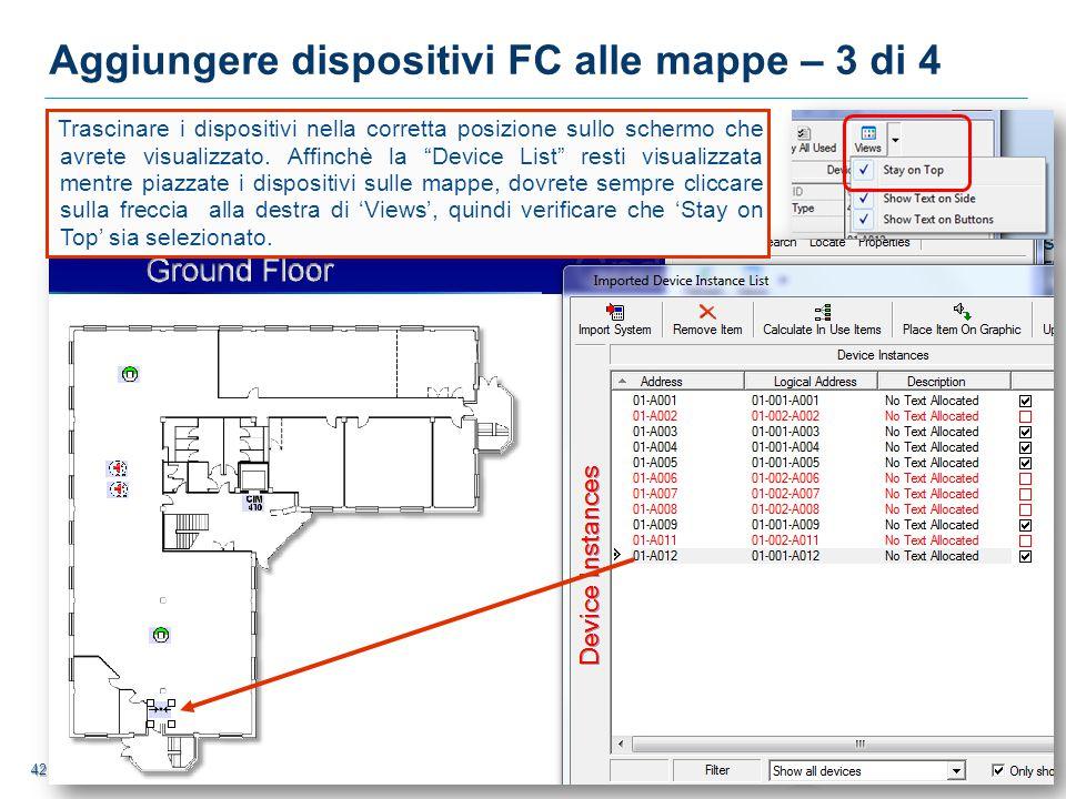 Aggiungere dispositivi FC alle mappe – 3 di 4
