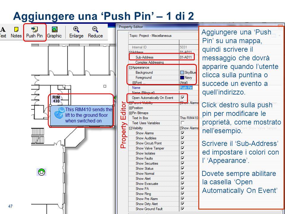 Aggiungere una 'Push Pin' – 1 di 2