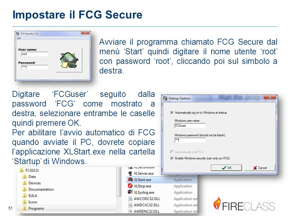 Impostare il FCG Secure
