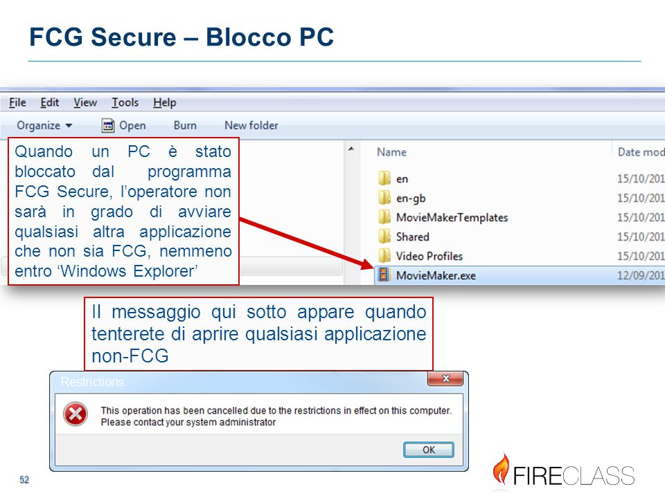 FCG Secure – Blocco PC