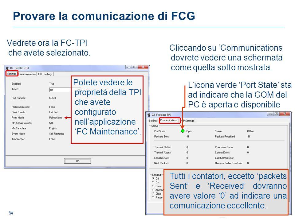 Provare la comunicazione di FCG