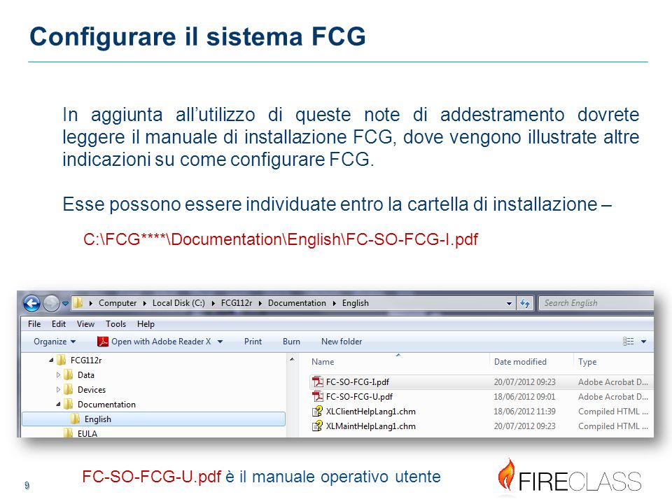 Configurare il sistema FCG