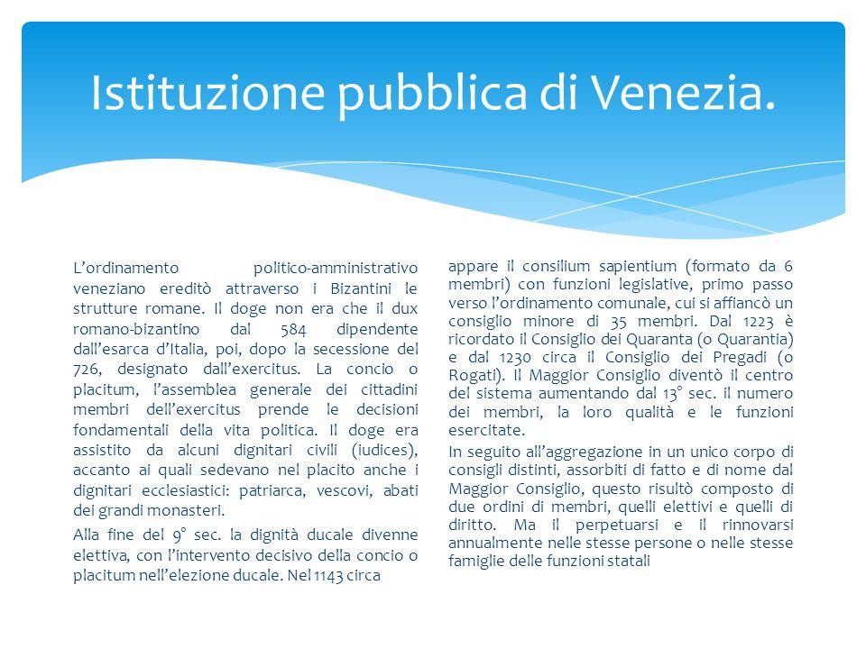 Istituzione pubblica di Venezia.