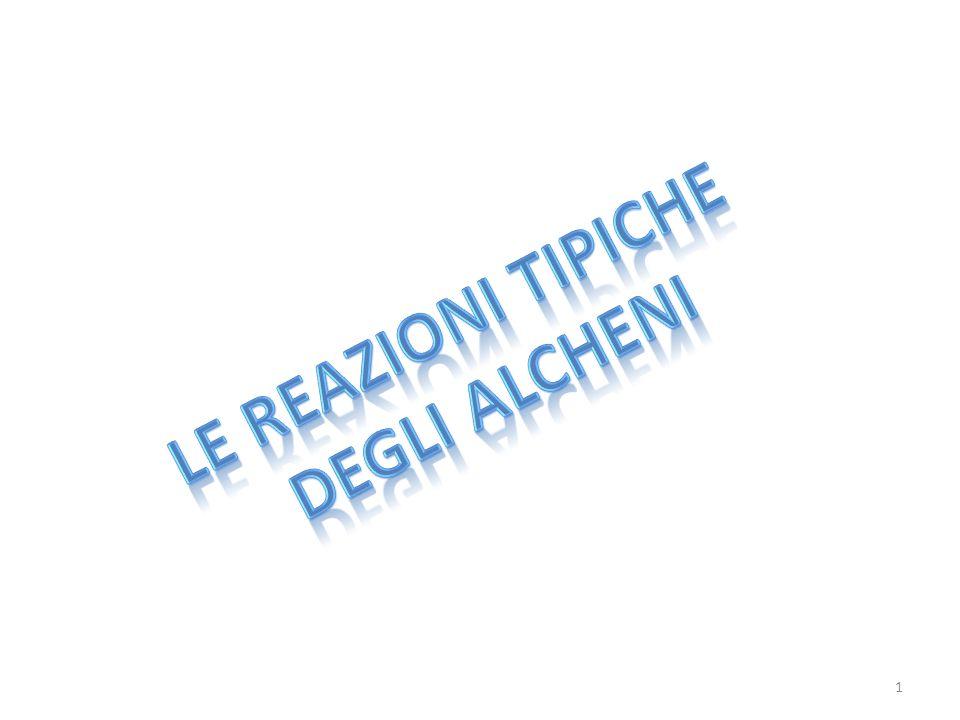 LE REAZIONI TIPICHE DEGLI ALCHENI