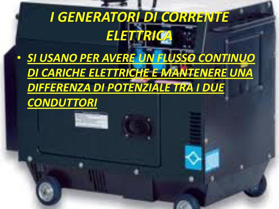 I GENERATORI DI CORRENTE ELETTRICA
