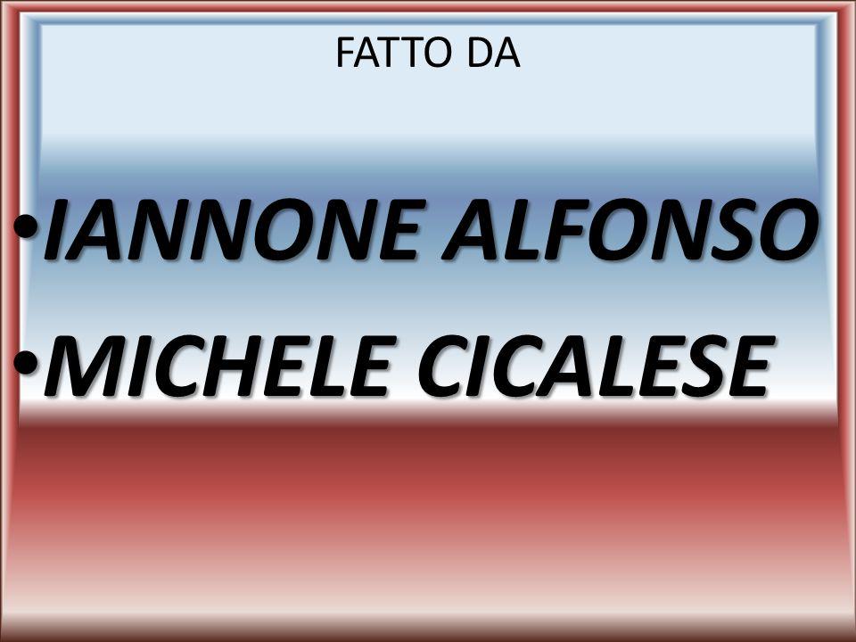 FATTO DA IANNONE ALFONSO MICHELE CICALESE