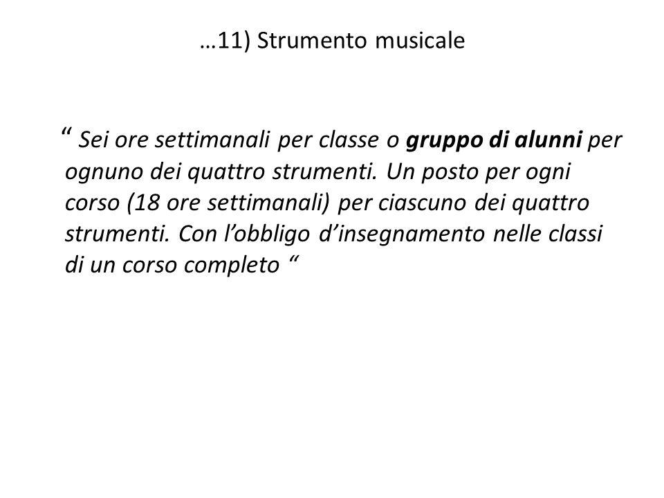 …11) Strumento musicale