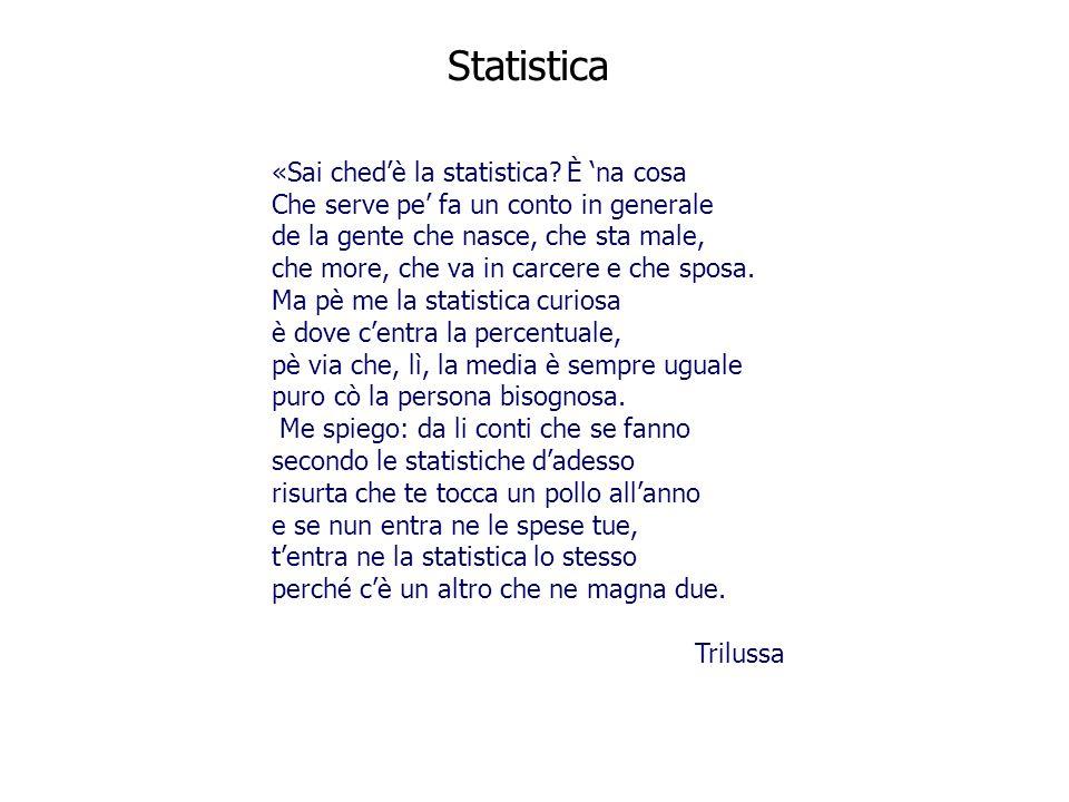 Statistica «Sai ched'è la statistica È 'na cosa