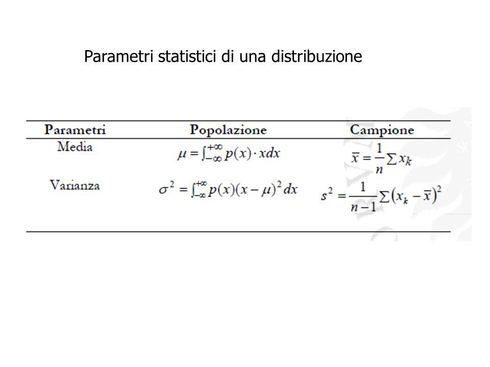 Parametri statistici di una distribuzione