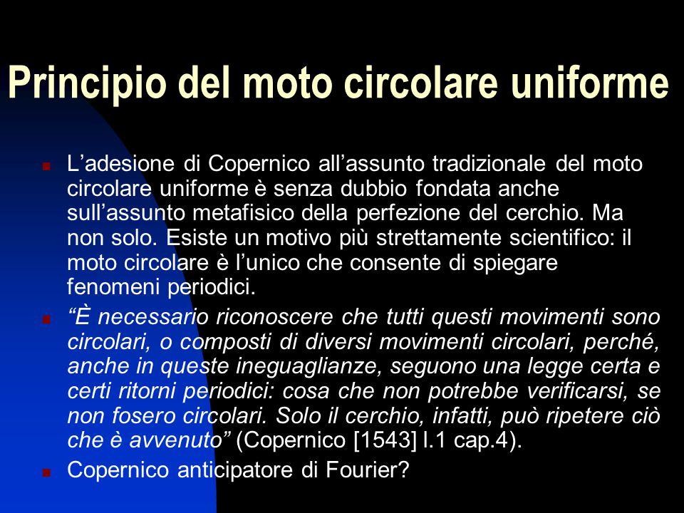 Principio del moto circolare uniforme