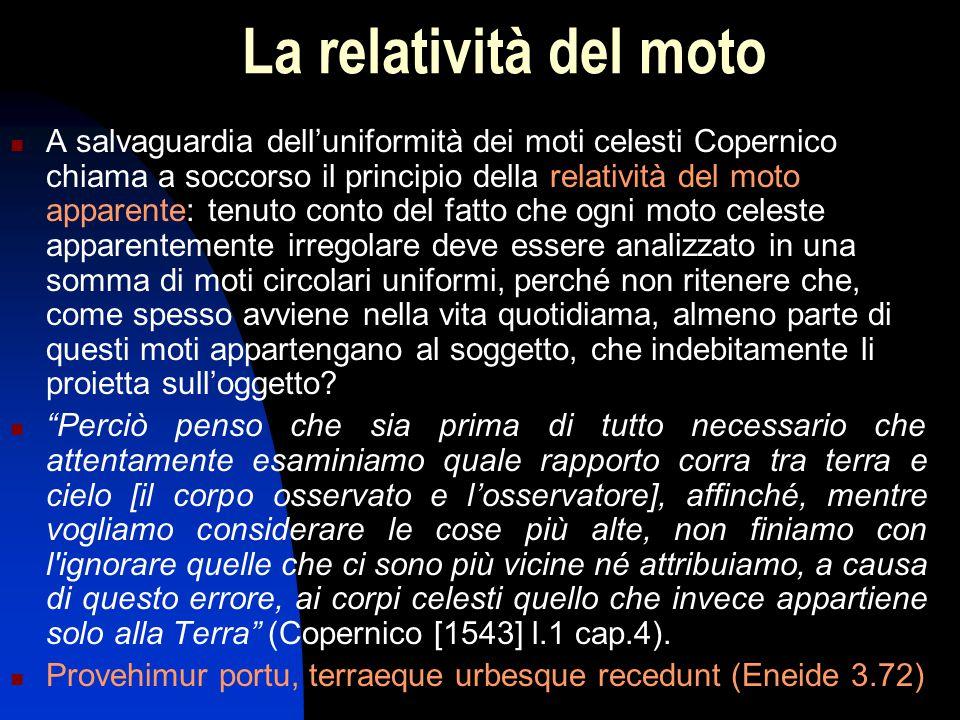 La relatività del moto