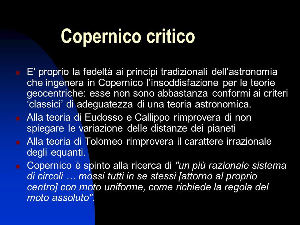 Copernico critico