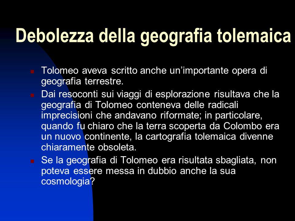 Debolezza della geografia tolemaica