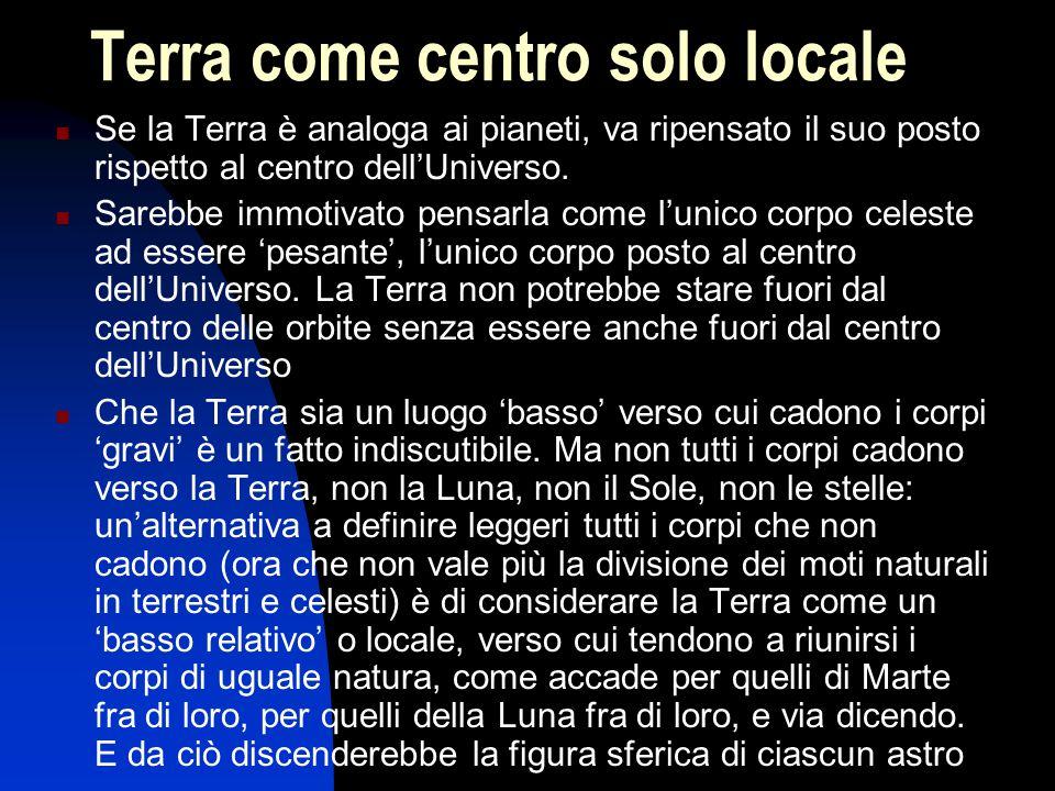 Terra come centro solo locale