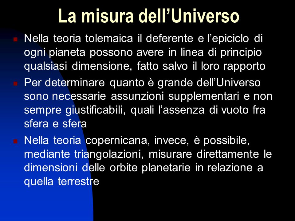 La misura dell'Universo