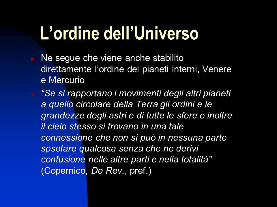 L'ordine dell'Universo