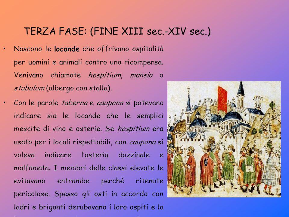 TERZA FASE: (FINE XIII sec.-XIV sec.)