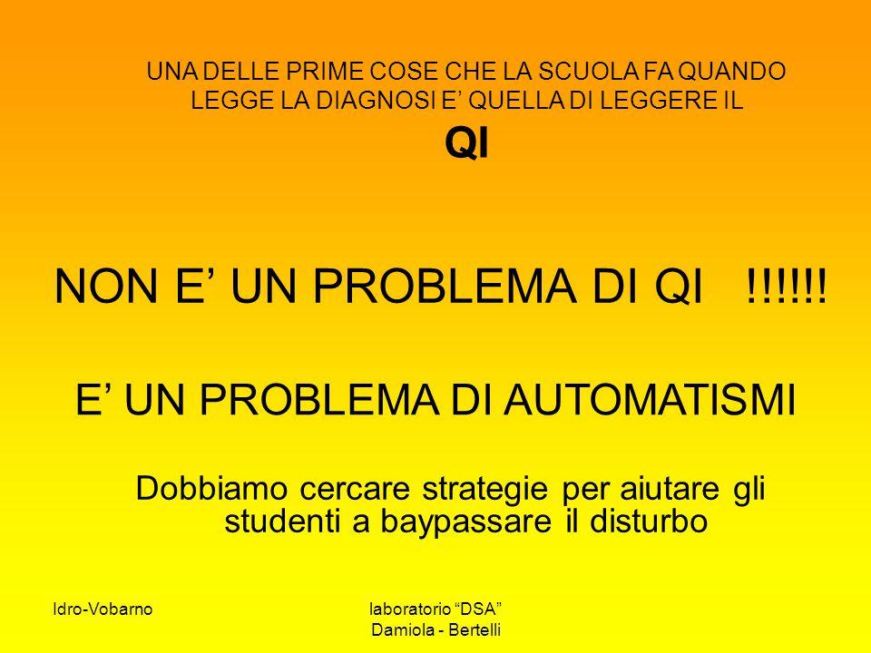E' UN PROBLEMA DI AUTOMATISMI