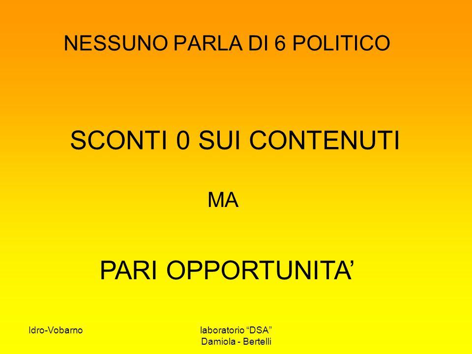NESSUNO PARLA DI 6 POLITICO