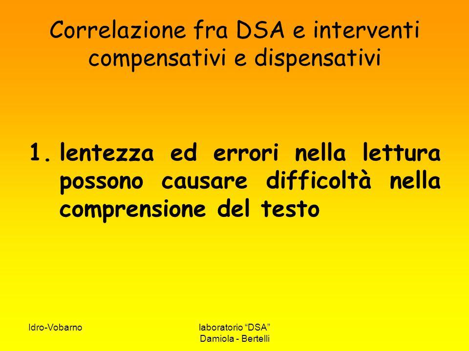 Correlazione fra DSA e interventi compensativi e dispensativi