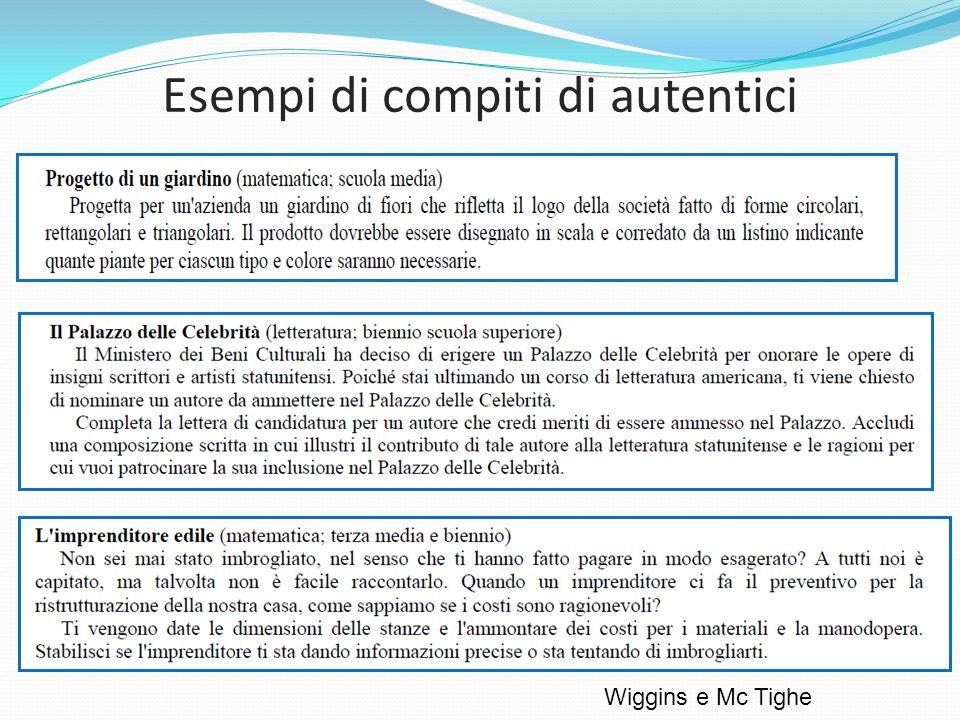 Esempi di compiti di autentici