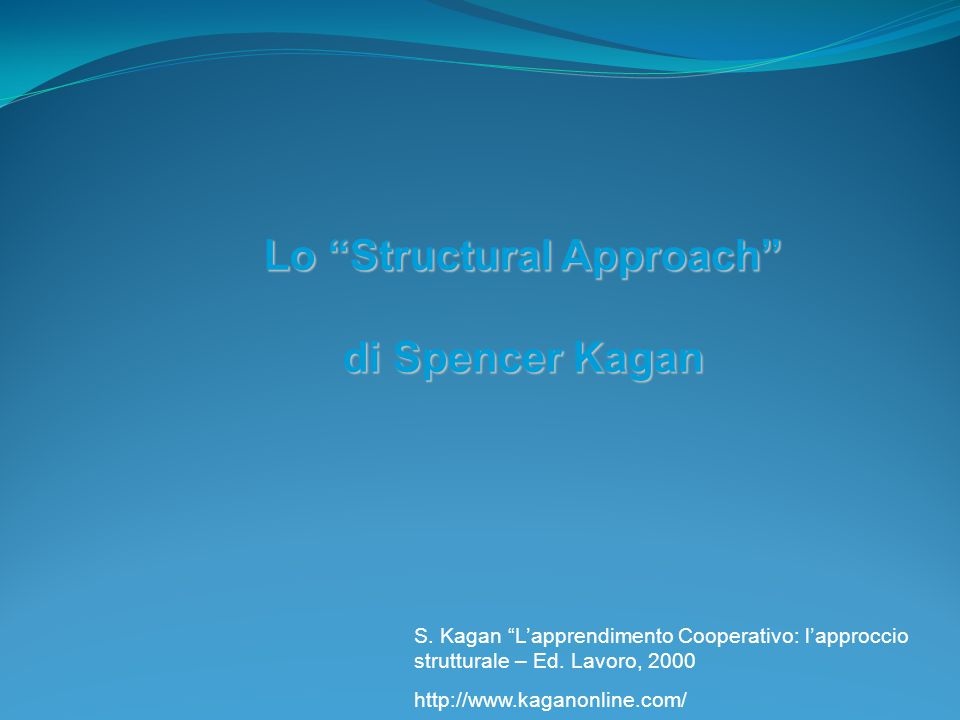 Lo Structural Approach