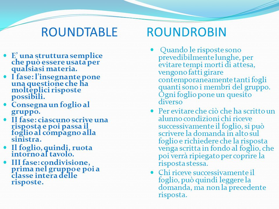 ROUNDTABLE ROUNDROBIN