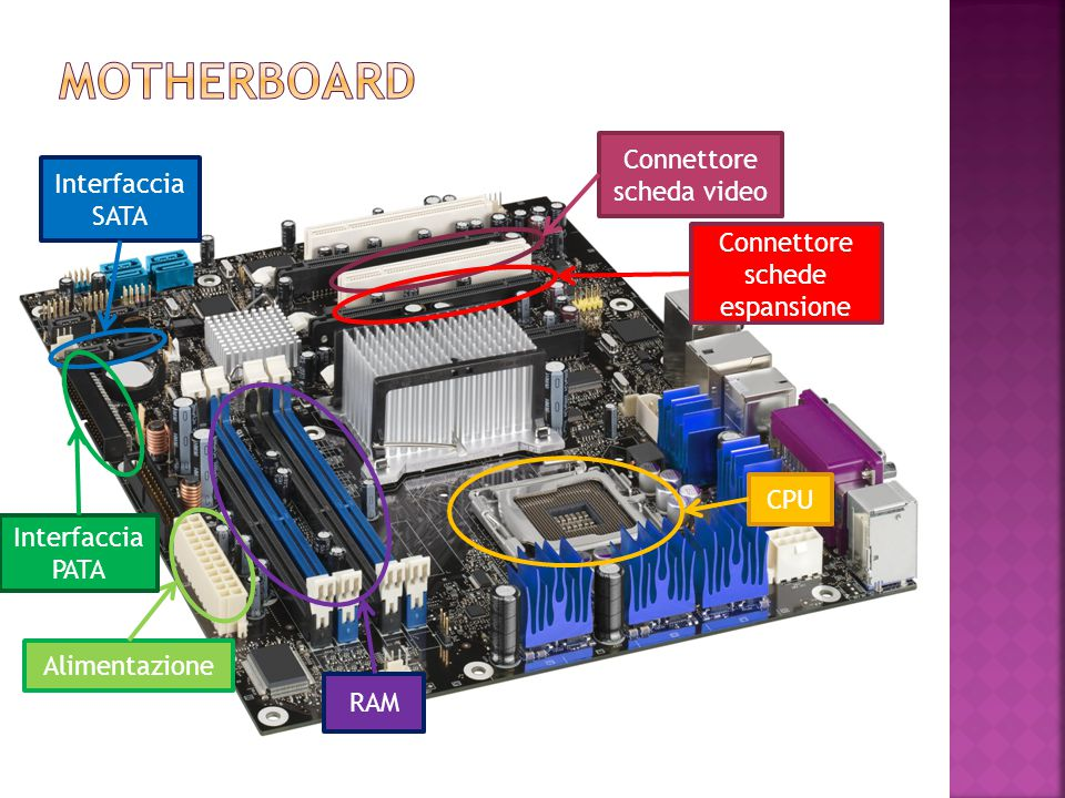 Motherboard Connettore scheda video Interfaccia SATA