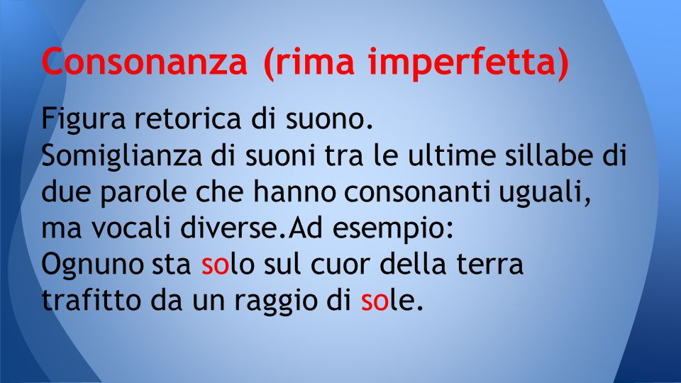 Consonanza (rima imperfetta)