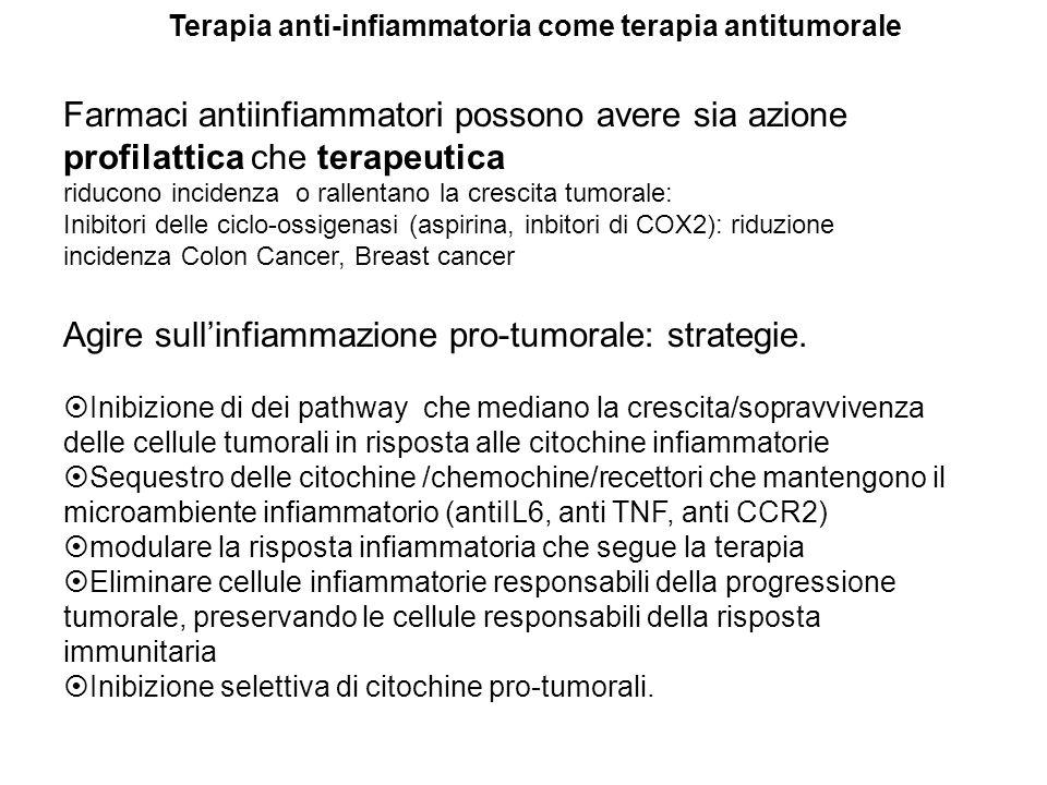 Agire sull'infiammazione pro-tumorale: strategie.