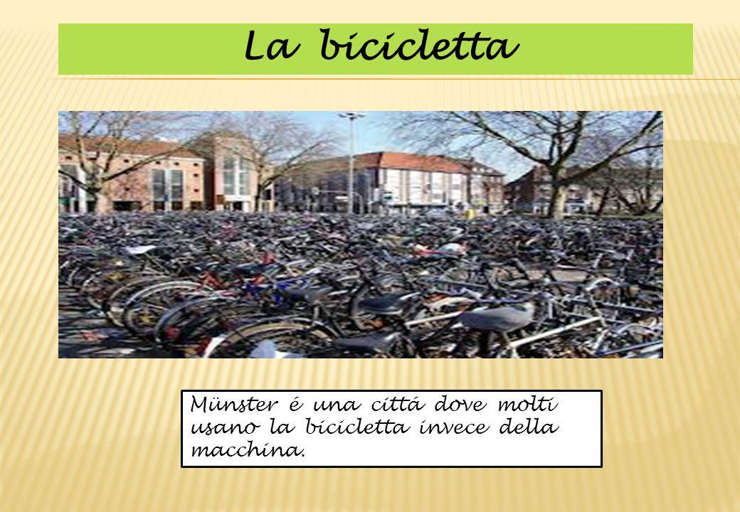 La bicicletta Münster é una cittá dove molti usano la bicicletta invece della macchina.