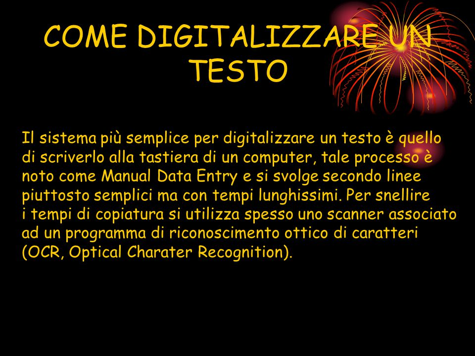 COME DIGITALIZZARE UN TESTO