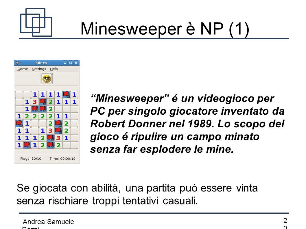 Minesweeper è NP (1)