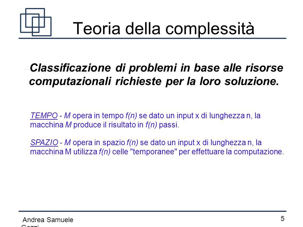Teoria della complessità