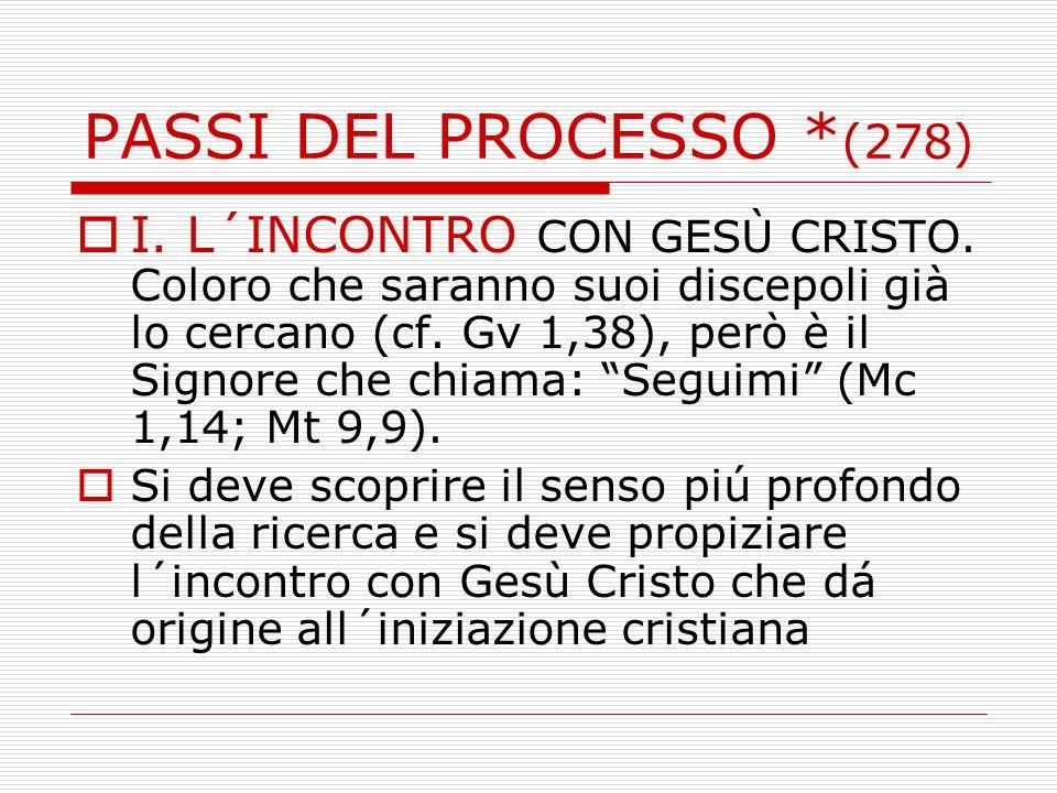 PASSI DEL PROCESSO *(278)